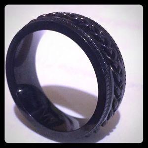 Men Black Ring (size 8.5)